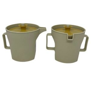 VTG Tupperware Almond Creamer & Sugar Bowl